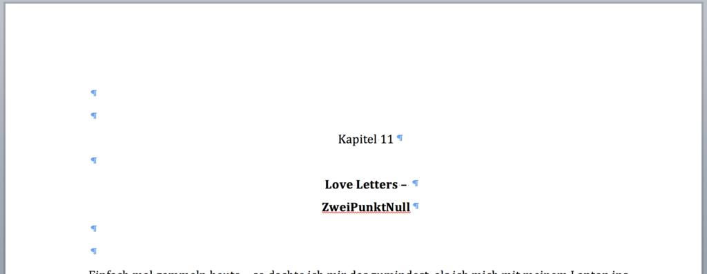 Kapitel 11: Love Letters – ZweiPunktNull
